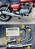 HONDA CM250 Predator 2-1 Exhaust System Road in Polished Stainless
