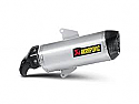 AKRAPOVIC APRILIA SRV850 SLIP-ON KIT (TO OE HEADERS) - CARBON OUTLET CAP TITANIUM SILENCERr (2012 >)