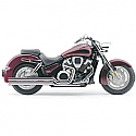 HONDA VTX1300N, HONDA VTX1300R, HONDA VTX1300S, HONDA VTX1300T 2002-2008 EXHAUST SYSTEM HOT ROD SPEEDSTER LONG 2 INTO 2 STRAIGHT-CUT TRIPLE-CHROME
