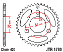 1780-28 REAR SPROCKET CARBON STEEL