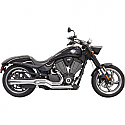 VICTORY GUNNER 106, HAMMER 100, HAMMER 106, HIGH-BALL 106, JUDGE 106, KINGPIN 100, KINGPIN 106 2006-2017 EXHAUST ROAD RAGE CHROME W/ BLACK FLUTED END CAP