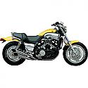 "YAMAHA VMX-12 1200 VMAX 1985-2007 2"" SLASH CUT TIP DRAG PIPE CHROME"