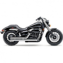 HONDA VT750C SHADOW, VT750C SHADOW ACE, VT750C SHADOW AERO, VT750C2 SHADOW SPIRIT 2000-2016 EXHAUST SYSTEM STREET ROD 2 INTO 2 STRAIGHT-CUT CHROME