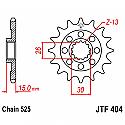 404-17 FRONT SPROCKET CARBON STEEL