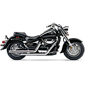 SUZUKI C1500 INTRUDER, C90 BOULEVARD, C90B BOULEVARD BLACK, C90T BOULEVARD 2005-2009 EXHAUST SYSTEM DRAGSTER 2 INTO 2 STRAIGHT-CUT CHROME