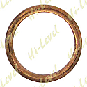 EXHAUST GASKET FLAT COPPER OD 47mm, ID 37mm, THICKNESS 4mm