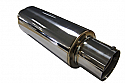 "SILENCER JAP 3"" Tunable Jap Box 76mm (3 inch) bore Tunable Jap Can with 3"" Tail. 76mm Inlet. 110mm total width. 445mm length"