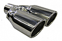 "TAIL PIPE Twin - 3"" x 2.5"" 3Inch Bore - 9.5"" Length - 7"" Width"