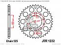 1332-40 REAR SPROCKET CARBON STEEL