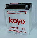 MOTORCYCLE BATTERY 12N14-3A BUDGET 12V