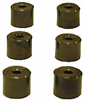 SCOOTER VARIATOR ROLLERS 15mm X 12.4mm 4.75g UNIVERSAL SET OF SIX