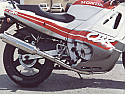 HONDA CBR600FH-FL 1986-89 (PC19,PC20,PC23) ROAD/Sports Silencer with R/B BRUSHED STAINLESS