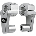 ROX SPEED FX 50.8 MM PIVOTING HANDLEBAR RISER FOR 22 MM BAR CLAMPS - ALUMINUM ELITE NATURAL