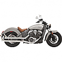 "INDIAN SCOUT 69 ABS, INDIAN SCOUT 60 ABS SIXTY 2015-2017 CHROME 2-1/4"" HOUSING W/BAFFLE AND FISHTAIL END"