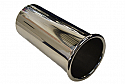 TAIL PIPE 3.5 inch Out Rolled Polished Rolled Lip tailpipe. Length aprox 8 inches.