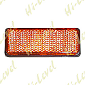 STICK-ON REFLECTOR AMBER RECTANGLE  BLACK RIM 85MM x 30MM