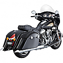 INDIAN CHIEFTAIN 111 ABS, INDIAN ROADMASTER 111 ABS 2014-2016 MUFFLER TURNDOWN SLIP-ONS CHROME