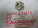 Kawasaki 42045 020 Genuine Castle Nut 14mm E125 KZ KL KDX KX KE EX250 EX305 NOS REAR AXLE