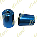 KAWASAKI ZX7R BAR END COVER BLUE