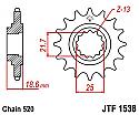1538-15 FRONT SPROCKET CARBON STEEL