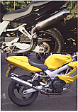 HONDA VTR1000 FIRESTORM (SC36) HIGH LEVEL SILENCERS WITH REMOVABLE BAFFLES BRUSHED STAINLESS PAIR