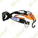 TIE DOWNS 38MM WIDE WITH HOOK & SNAP HOOK - ORANGE/BLACK (PAIR)