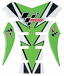 MOTO GP TANK PROTECTOR SPINE STYLE IN  GREEN & CARBON