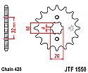 1550-14 FRONT SPROCKET CARBON STEEL
