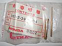 Honda Cb550f Carb Jet Needle Set NOS 16012-390-004