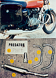 HONDA CJ250T Predator 2-1 Exhaust System Road in Polished Stainless