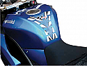 MOTO GP TANK PROTECTOR SPINE STYLE IN  BLUE & CARBON