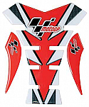 MOTO GP TANK PROTECTOR SPINE STYLE IN  RED & CARBON