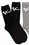 MOTOGP EVERYDAY COTTON MIX GP SOCKS ( BLACK SINGLE PAIR)