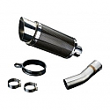 SUZUKI SV650 1998-2002 200mm CARBON RACE SILENCER KIT