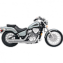 HONDA VT600C SHADOW, HONDA VT600CD SHADOW DELUXE 1988-2007 STREET ROD SLASH CUT EXHAUST CHROME
