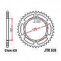 839-57 REAR SPROCKET CARBON STEEL