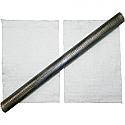 """LA CHOPPERS 2.5"""" OUTER DIAMETER BY 24"""" LONG STAINLESS STEEL BAFFLE WITH PACKING UNIVERSAL"""