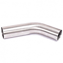 SPARK UNIVERSAL BENDED PIPE 30° DEGREE Ø 54MM STAINLESS STEEL