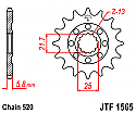 1565-13 FRONT SPROCKET CARBON STEEL