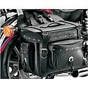 ALL AMERICAN RIDER SADDLEBAG BOX WITH POCKETS DETACHABLE TRIPLE EXTRA LARGE RIVET CONCHOS BLACK
