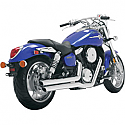 SUZUKI M95 MARAUDER, SUZUKI VZ1600 MARAUDER 2004-2005 EXHAUST BIG SHOTS STAGGERED CHROME