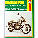 TRIUMPH 650, TRIUMPH 750 2-VALVE UNIT TWINS 1963-1983 WORKSHOP MANUAL