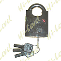LOCK RED STAR HEAVY-DUTY PADLOCK WITH 5 KEYS