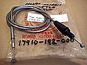 HONDA EXPRESS THROTTLE CABLE SILVER P/No 17910192000