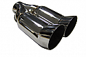 "TAIL PIPE Twin 3"" DTM Tailpipe Twin 76mm (3 inch) DTM on a Y. 67mm Inlet. 270mm Length. 150mm Total width"
