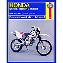 HONDA XR250L, HONDA XR250R, HONDA XR400R 1986-2003 WORKSHOP MANUAL