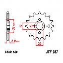 287-14 FRONT SPROCKET CARBON STEEL