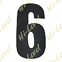 "COMPETITION NUMBER BLACK 7"" 6 MATT"