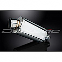 DELKEVIC EXHAUST SILENCER WITH REMOVABLE BAFFLE 225mm OVAL STAINLESS STEEL