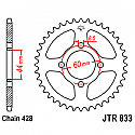 833-49 REAR SPROCKET CARBON STEEL